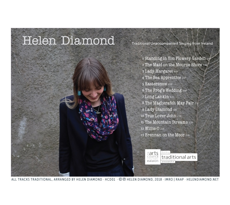 Helen Diamond CD back cover